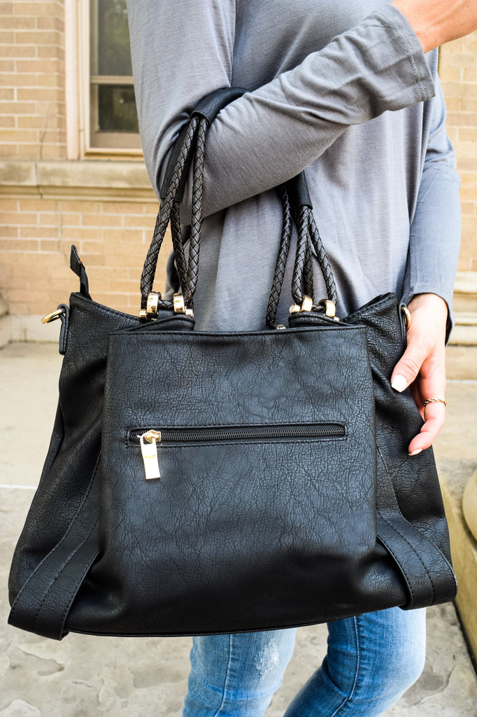 Affordable vegan leather slouchy shoulder bag