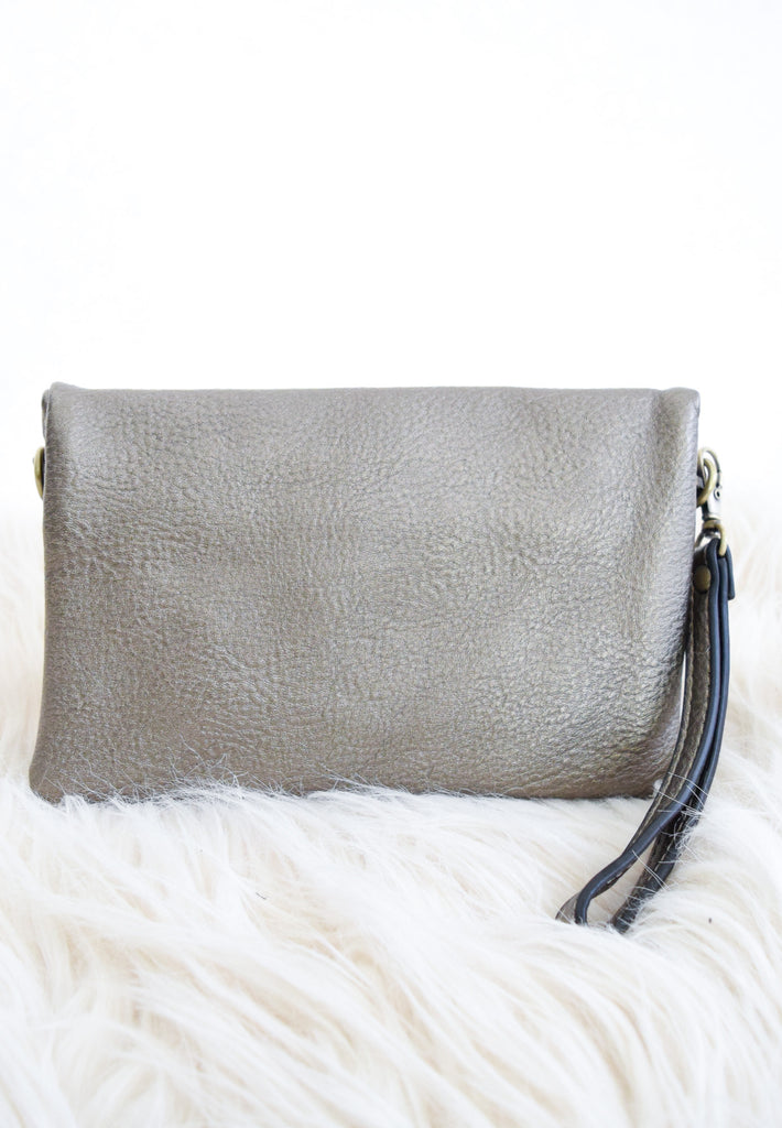 Riley Convertible Purse In Bronze