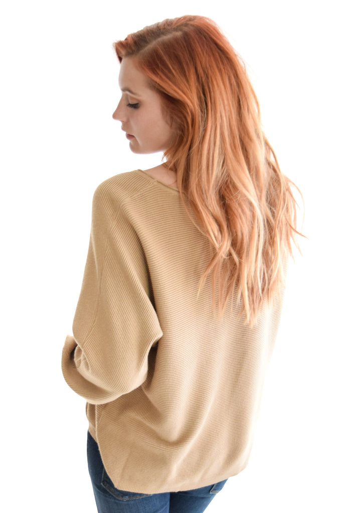 Sitting By The Fire Sweater In Camel