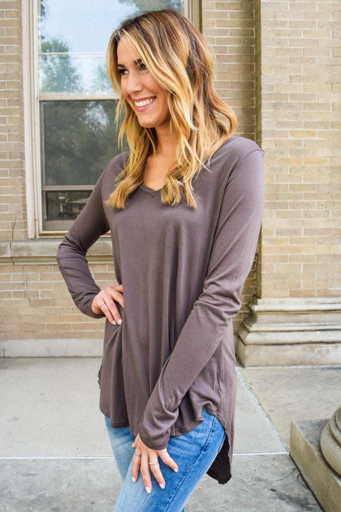 Cute Online Fall Like A Feather Tunic Mocha