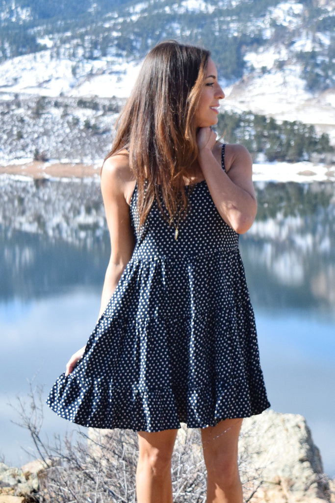 Cute Hillside Printed Cutout Dress
