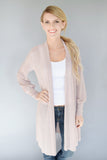 Clear Water Open Knit Cardigan Blush