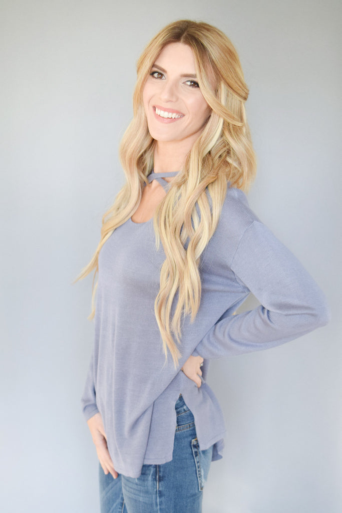 Chic hillside criss cross top