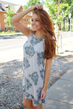 Womens Clothing mountain valley printed dress grey