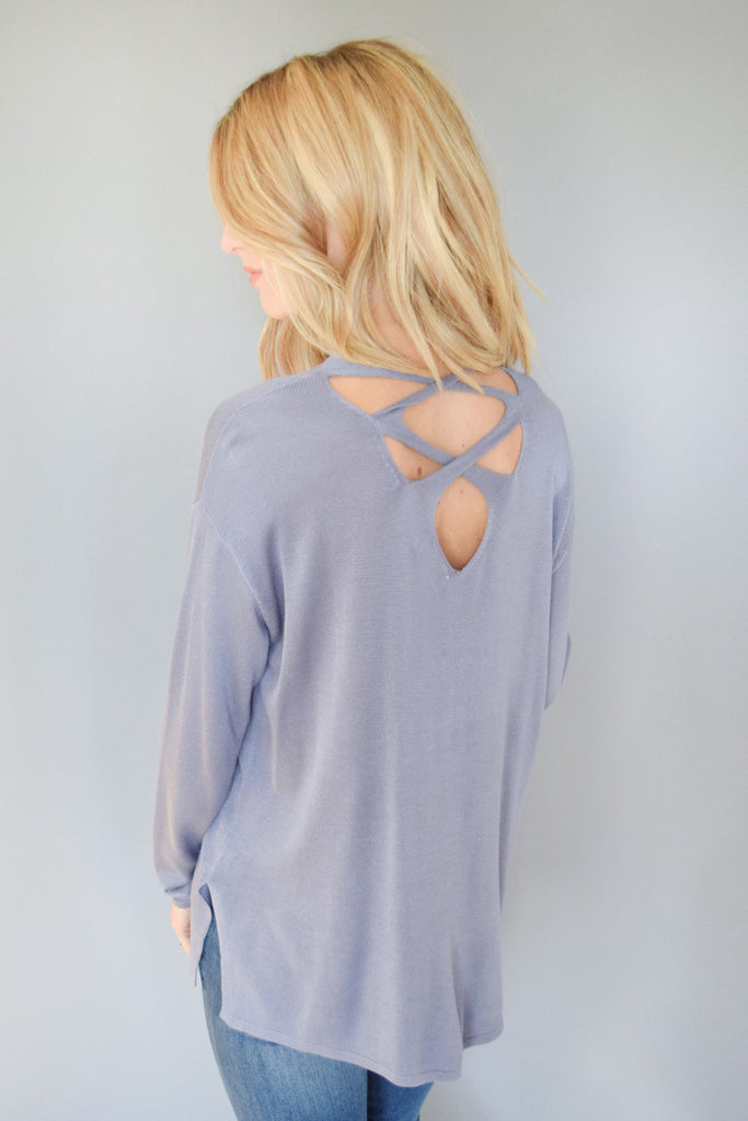 Colorado Chic hillside criss cross top