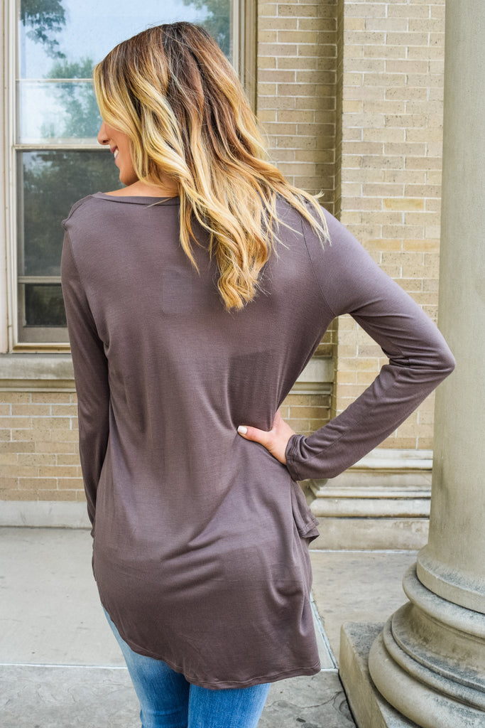 Affordable Online fall like a feather tunic mocha