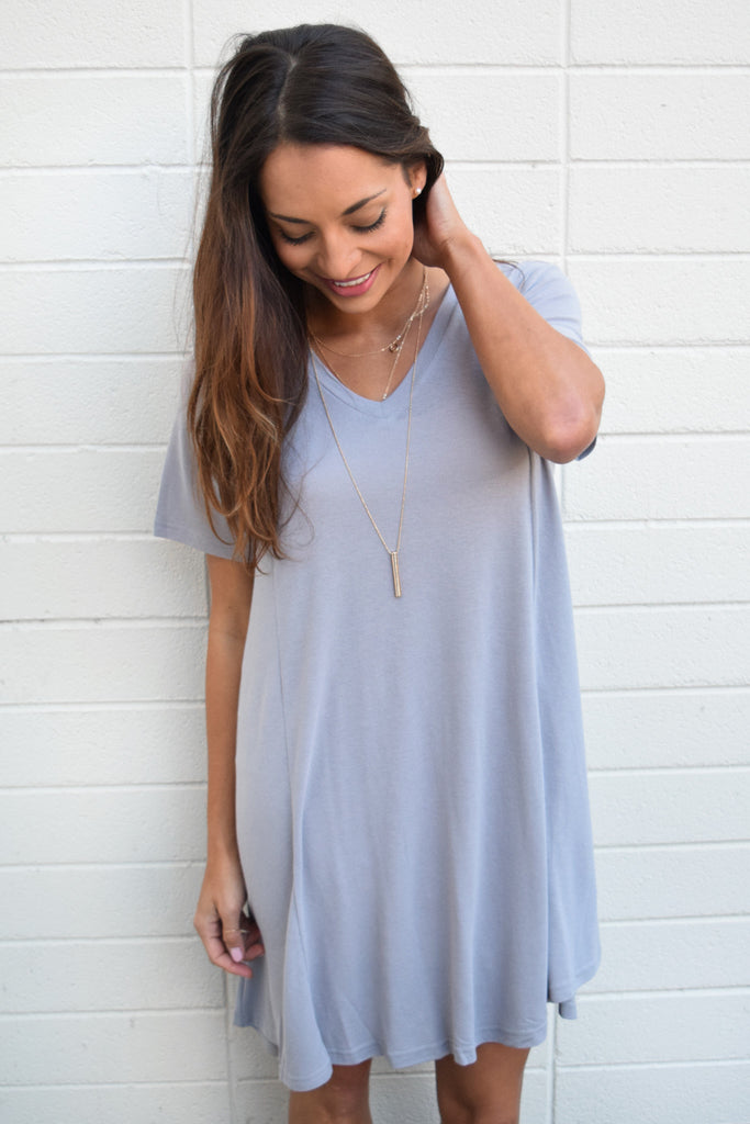 Cute Online Forever Dreaming Tee Shirt Dress Silver