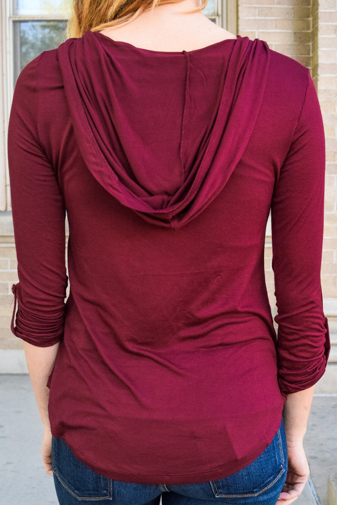 Cute coast to coast hoodie burgundy