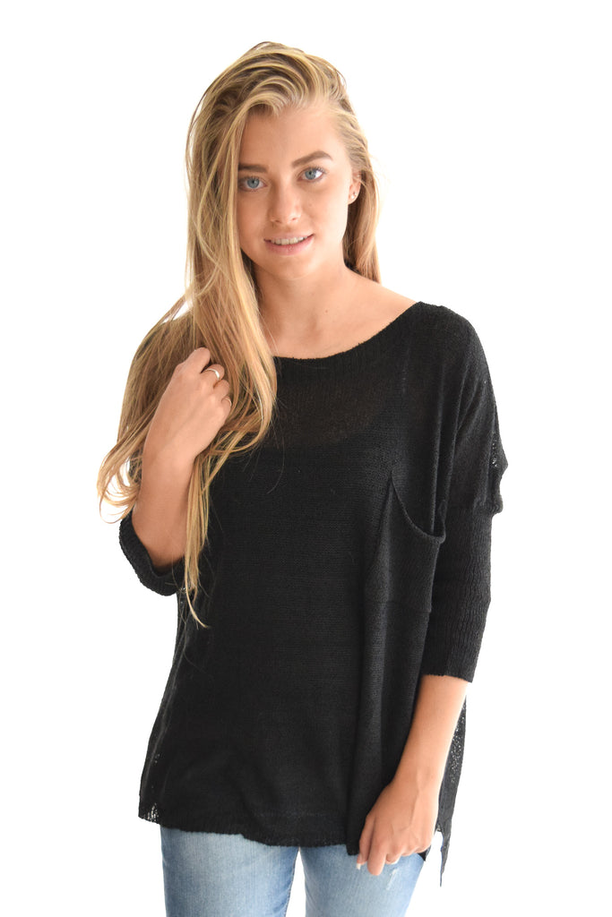 Coffee House Sweater In Black