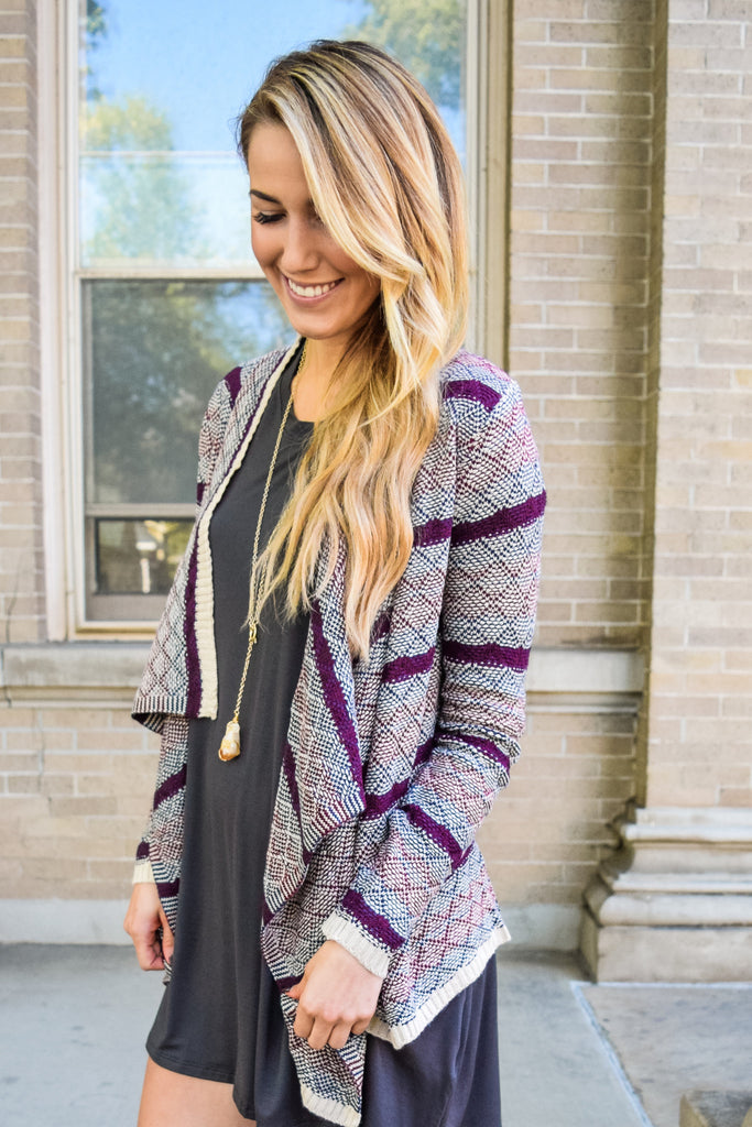 Cute warm glow burgundy cardigan