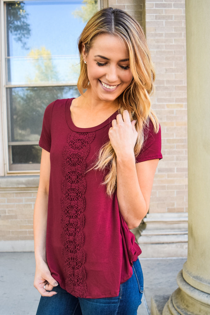 Chic love to layer cranberry top