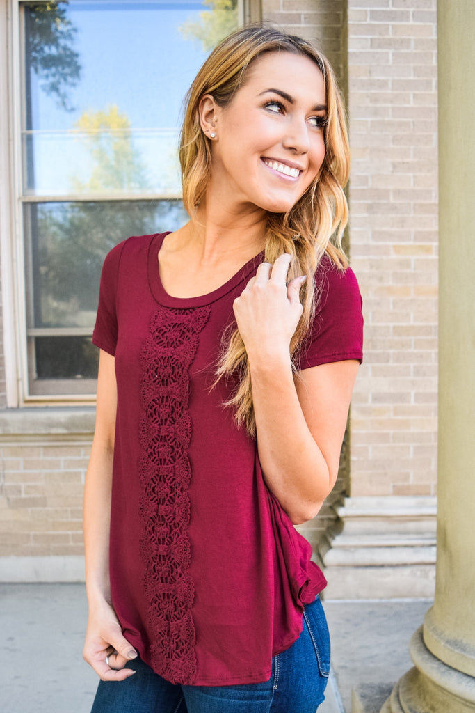 Affordable Online Love To Layer Cranberry Top