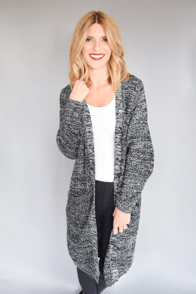 Trendy Fireside Long Pocket Cardigan
