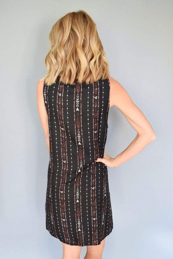 Colorado Chic arrowhead lace up dress