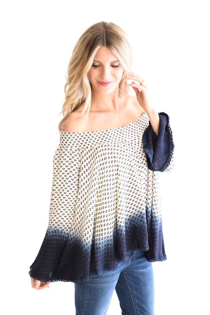 Ombre Off Shoulder Top