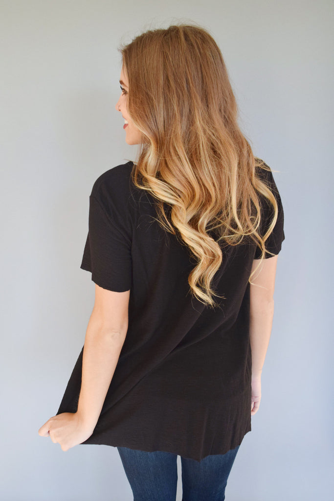 Affordable Online alpine side slit tee black