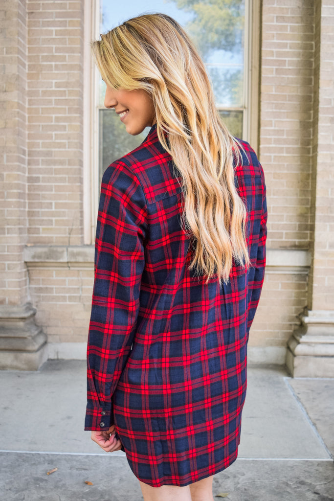 Cute Online good girl gone grunge red plaid dress