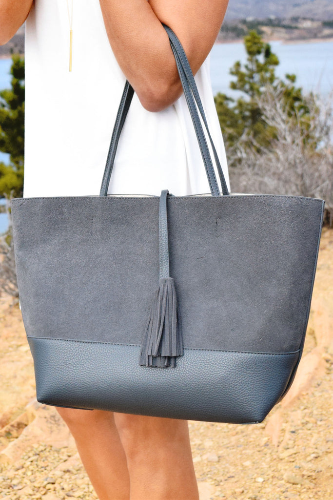 Womens Online Florence Genuine Suede Tote Bag