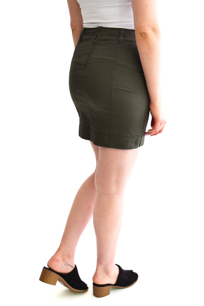 Riggs Olive Skirt