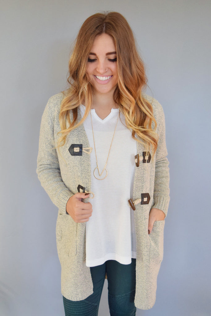 Trendy avanti peppered basic cardigan