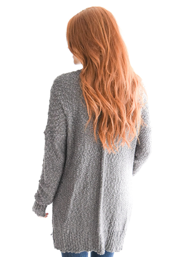 Beyond The Horizon Cardigan In Grey