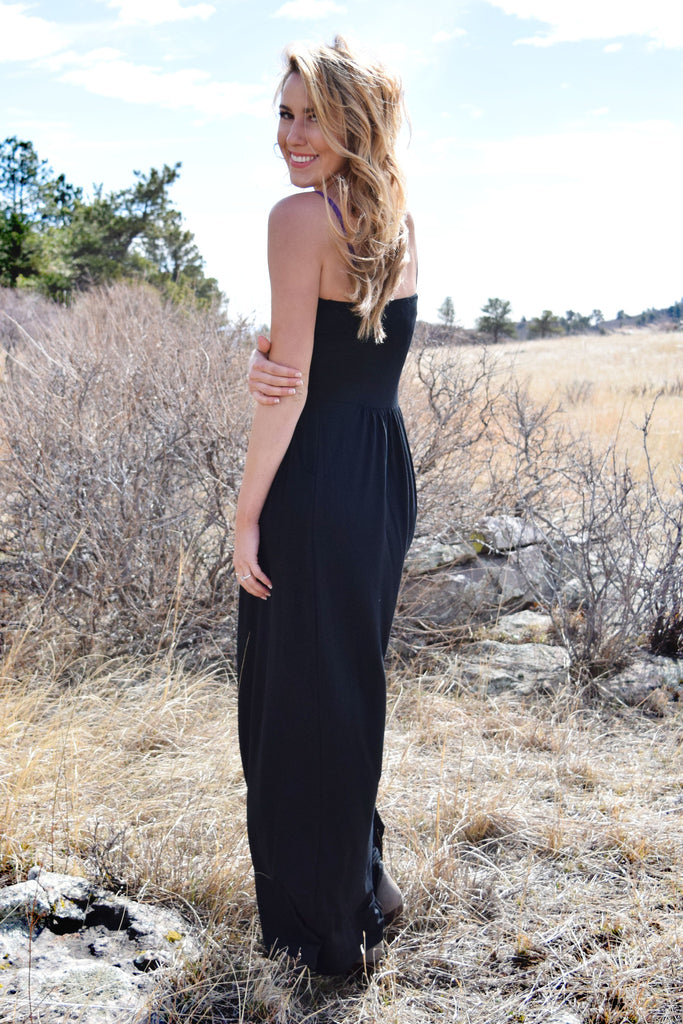 Affordable Online Looking Lovely Strapless Maxi Dress Black
