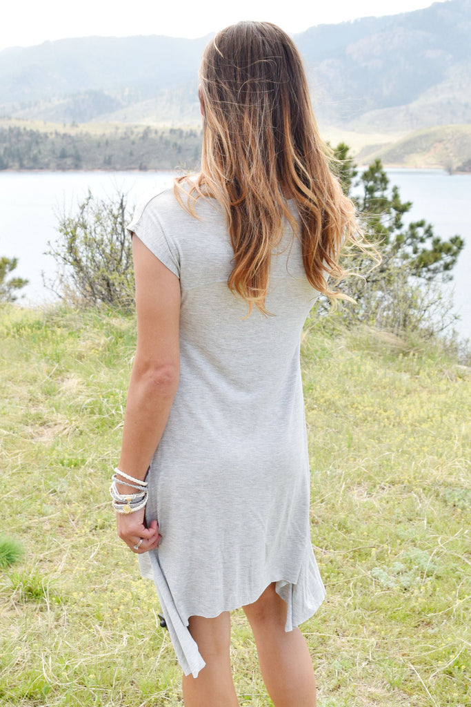 Colorado Chic north shore tunic grey