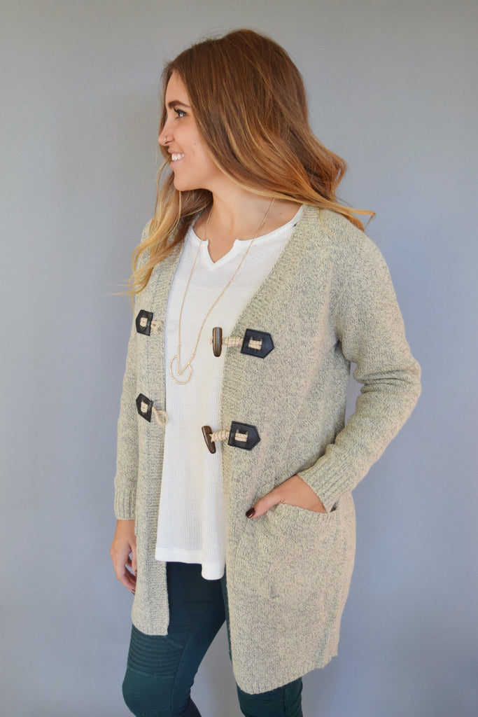 Cute avanti peppered basic cardigan