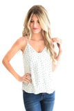 Bird Wrap Tank Top In White