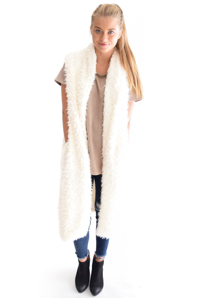 Alex Faux Shearling Vest