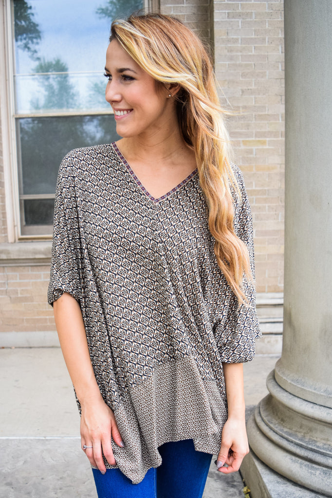 Affordable Online printed oversized tunic