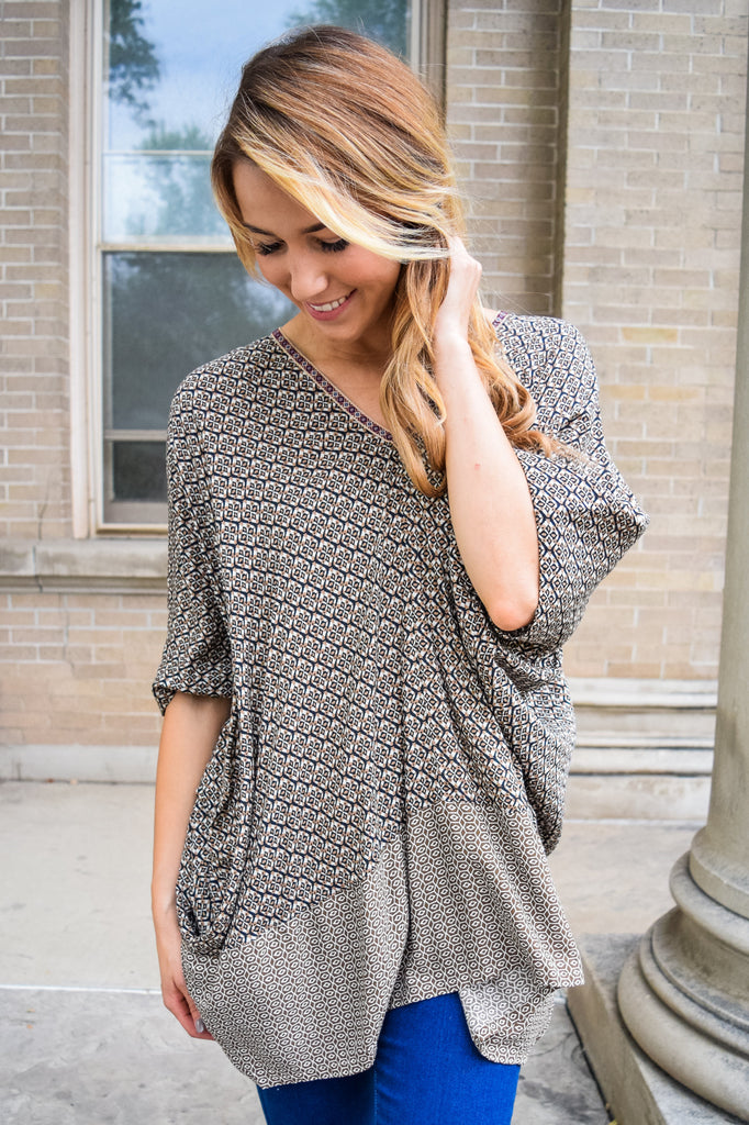 Trendy Online Printed Oversized Tunic