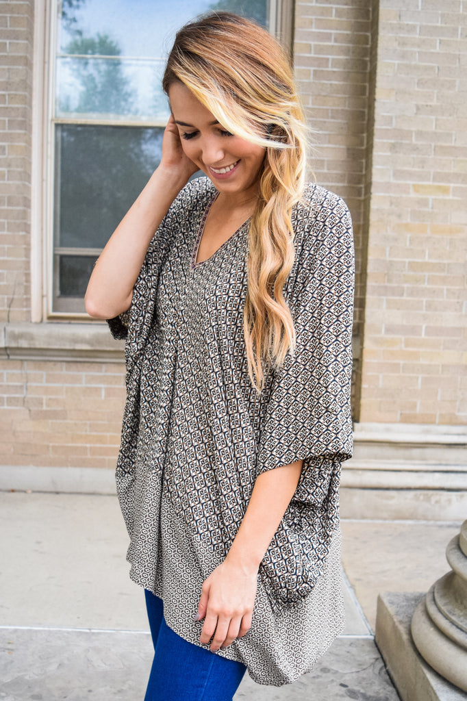 Chic printed oversized tunic