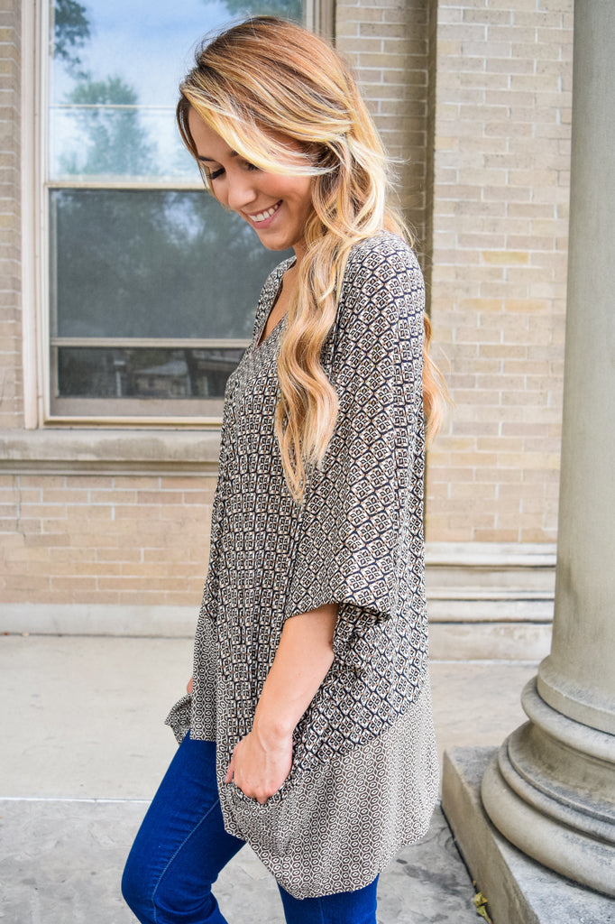 Colorado Chic printed oversized tunic