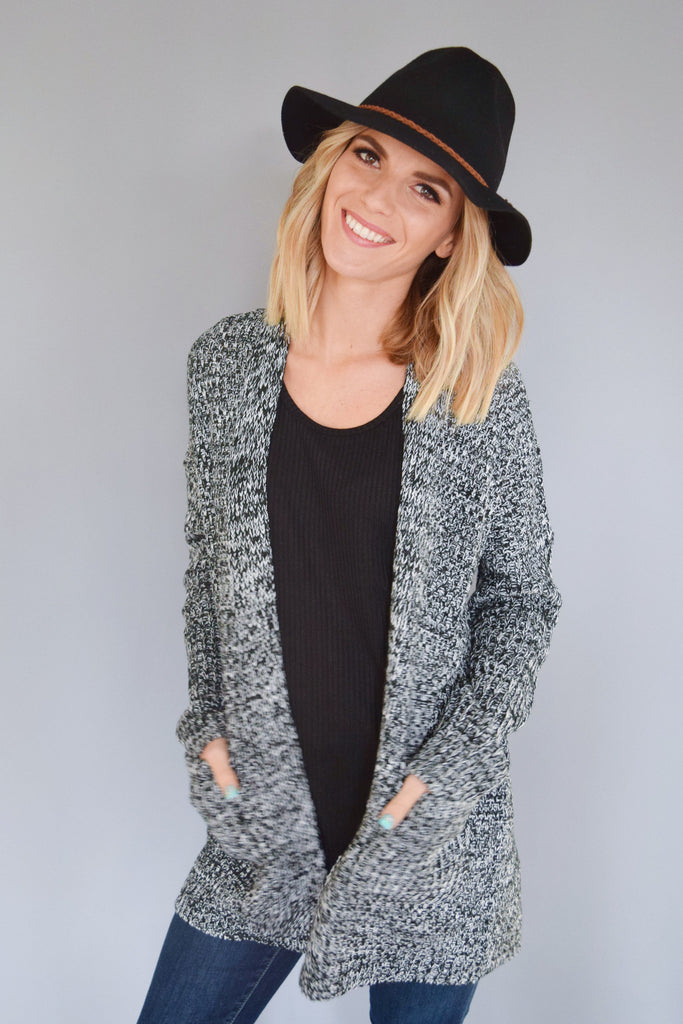 Colorado Chic first snow pocket cardigan black