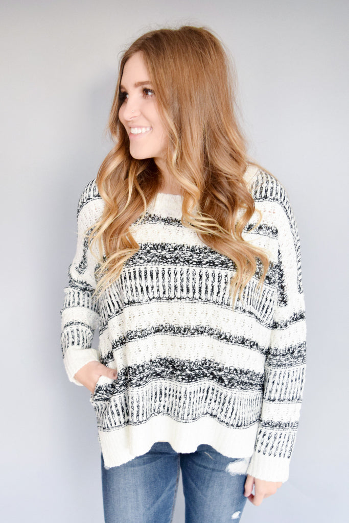 Womens Online northern lights striped sweater