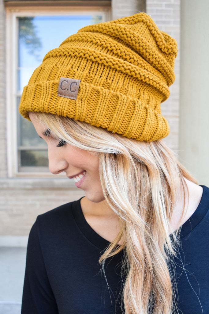 Affordable Online Apres Ski Slouchy Beanie Mustard