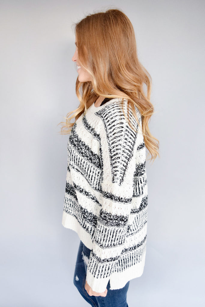 Cute northern lights striped sweater