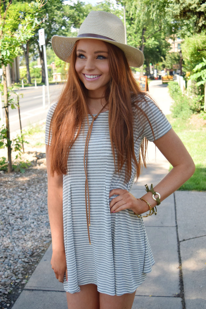 Colorado Chic striped tee shirt dress