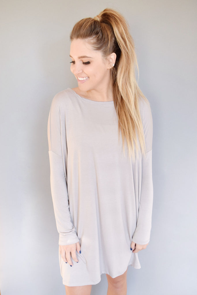 Chic Stella Dolman Dress Silver