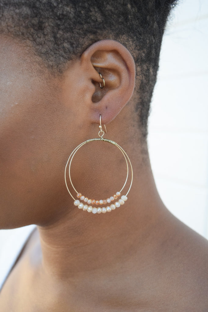 Beaded Hoop Earring