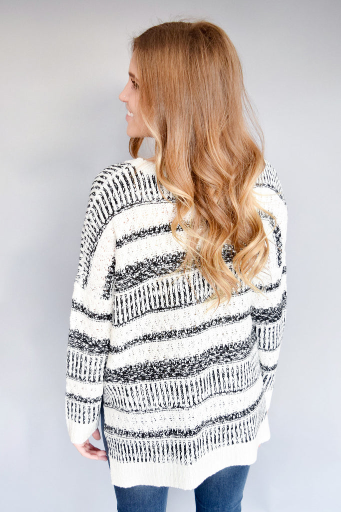 Cute Online northern lights striped sweater