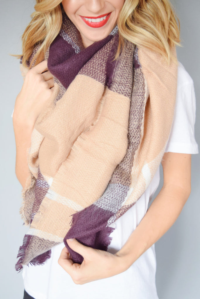 Trendy hot coco blanket scarf