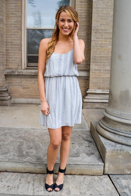 Trendy Online Romantic Date Grey Dress