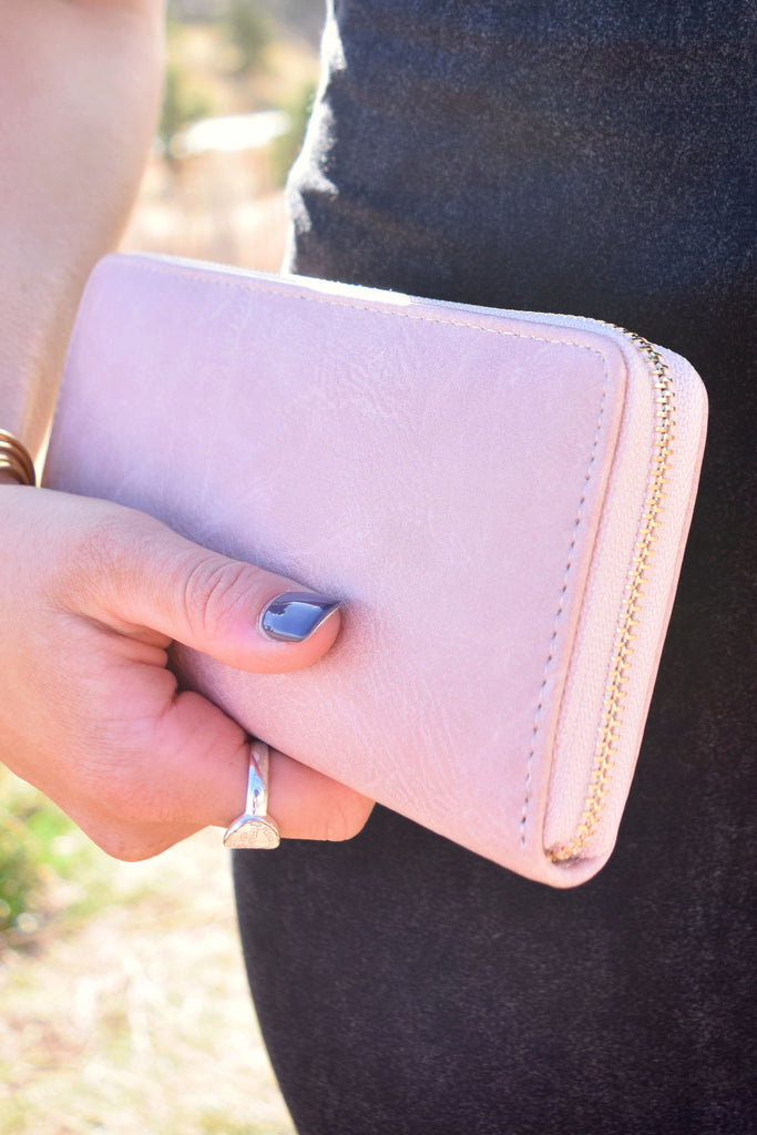 Womens Clothing Vegan Leather Wallet Rose