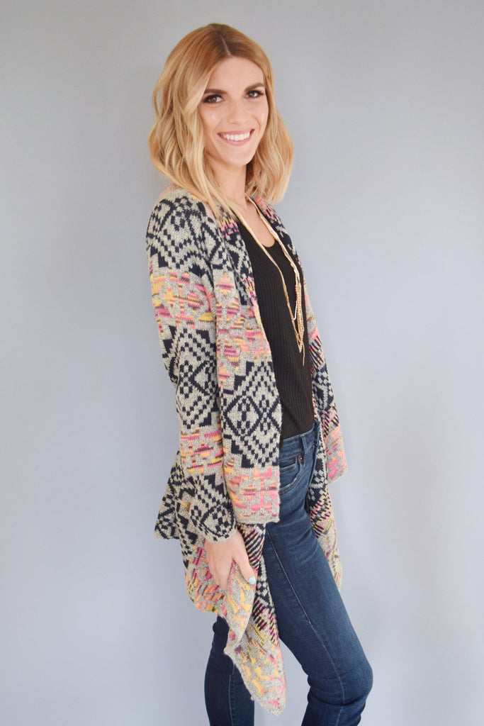 Womens Boutique wild skies waterfall cardigan