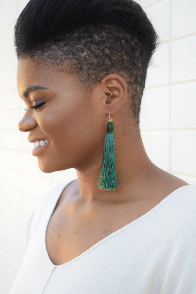 Aspen Tassel Earring In Green