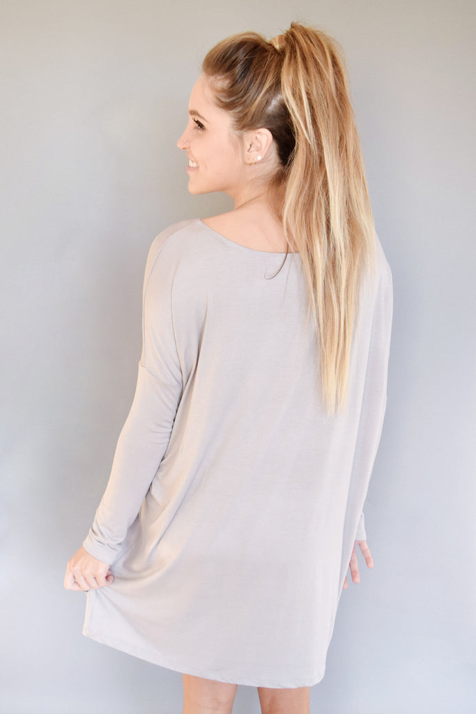 Womens Clothing colorado dolman sleeve dress silver