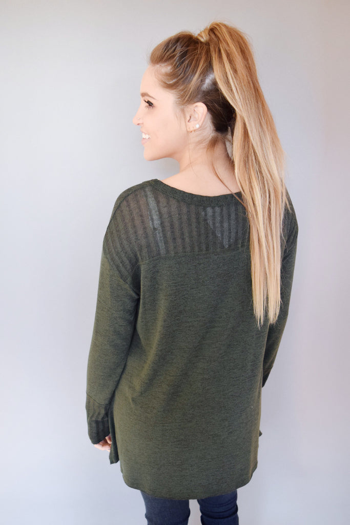 Cute Online piper knit top olive