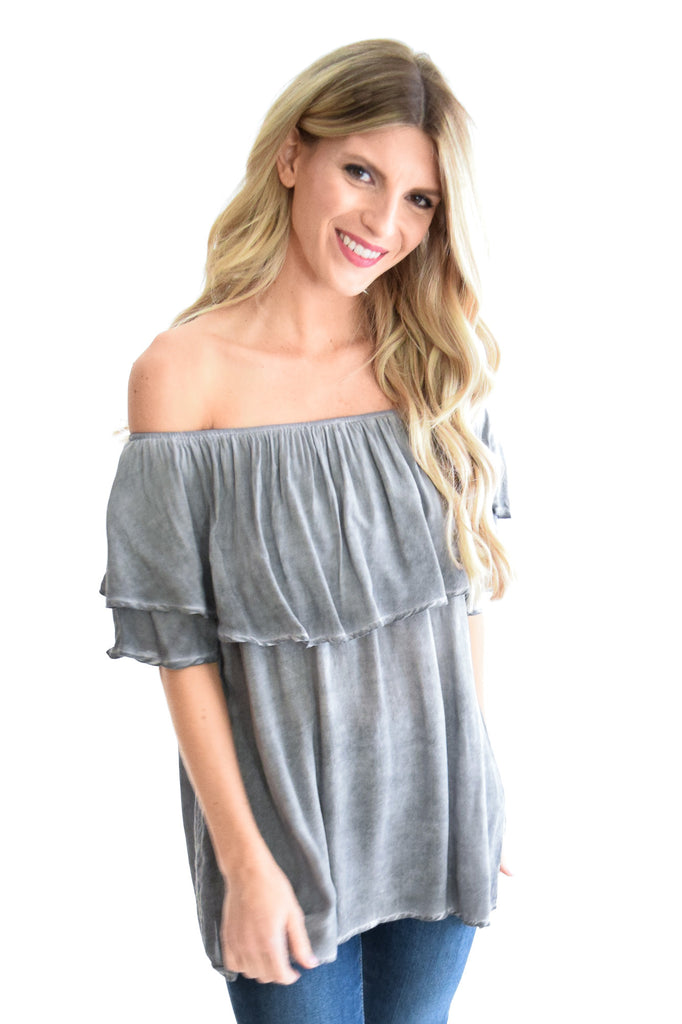 Camilla Top In Grey